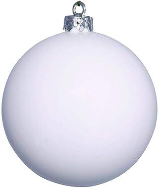 """Vickerman 482094-3"""" White Shiny Ball Christmas Christmas Tree Ornament (12 pack) (N590811DSV)"""
