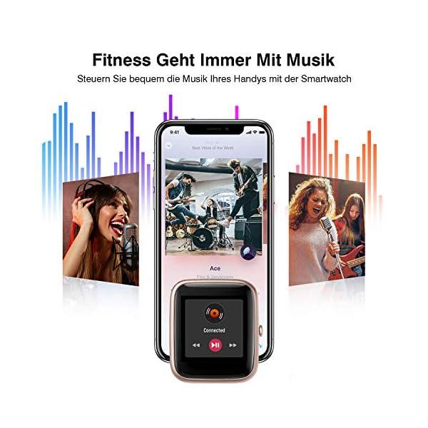 Reloj Inteligente Mujer Hombre, Smartwatch con Pulsómetro, Pulsera Actividad Inteligente con Cronómetros Podómetro… 7