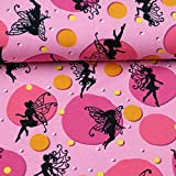 Doppelmoppel Jersey Stoff Fee Elfen pink