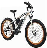 Bicicletas Eléctricas, 1000W 48V 13Ah bicicleta eléctrica de la bici de montaña for hombre 26' Fat Tire E-bici camino de la playa de la bicicleta / moto de nieve con los frenos de doble disco hidráuli