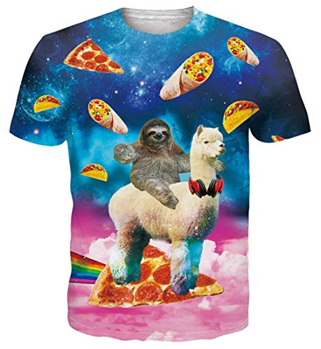 Goodstoworld 3D T Shirt Damen Herren Rot Vorte Unisex Muster Druck Sommer Beiläufige Kurzarm T-Shirt Tshirt L