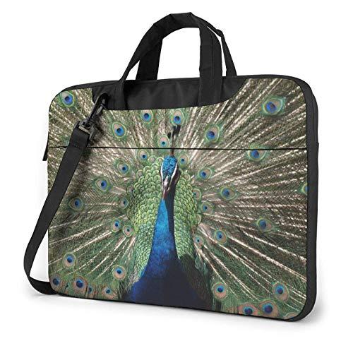 El Bolso de Hombro Impreso del Ordenador portátil del Pea-Cock, maletín del Bolso de Mensajero del Negocio del Bolso de la Caja del Ordenador portátil