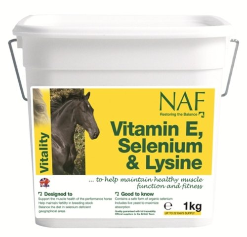 Naf Naf NAF - Vitamin E, Selenium & Lysine Horse Feed Supplement x Size: 1 Kg