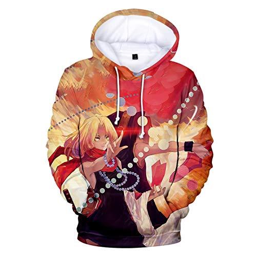 Sudaderas con Capucha De Shaman King para Mujeres Y Hombres, Japón Anime 3D Impreso Harajuku Moda Cuello Redondo Manga Larga Blusa Premium Tops De Manga Larga