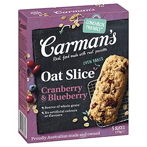 Carman's Cranberry and Blueberry Oat Slice 175 g