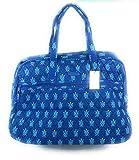 Vera Bradley Grand Traveler Bag Marine Turtles Blue