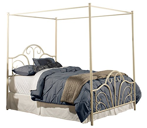 Hillsdale Furniture Hillsdale Full Canopy Dover Set with Bed Frame, Cream