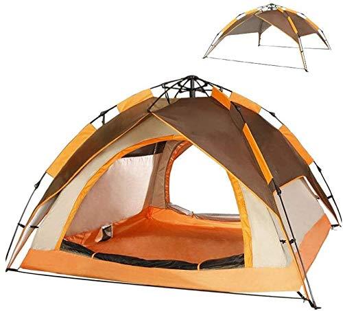 YAYY Automatische 4-persoons-campingtent, draagbare koepel, sneltent, eenvoudig op te bouwen en met dubbellaags voor gezinskampeerreizen in de open lucht te verpakken (upgrade)
