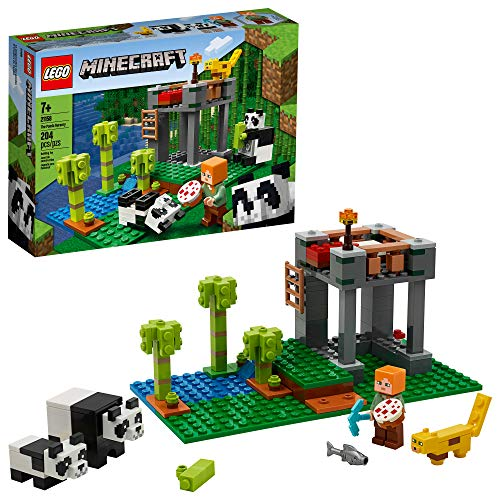 LEGO Minecraft The Panda Nursery 21158 Construction Toy for Kids, Great Gift for Fans of Minecraft and Pandas, New 2020 (204 Pieces)