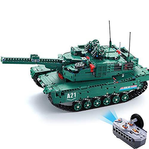 JW-YZWJ Bausteine Spleiße Fernbedienung Tank Auto Kreative 1498 stücke Bausteine Ziegelsteine Kinder Puzzle Erleuchtung Spielzeug DIY Fernbedienung M1A2 Tank Für Kinder