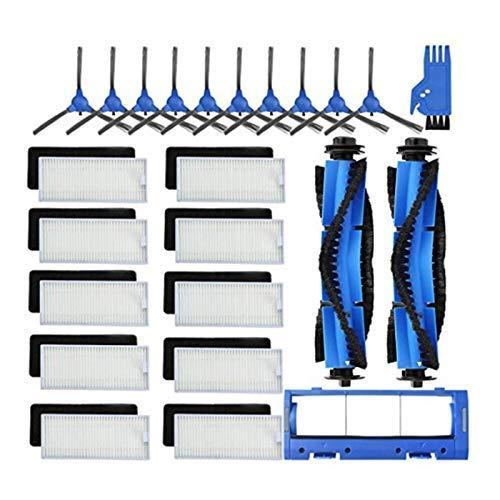 QIBIN Juego de 24 piezas de repuesto para aspiradora RoboVac 11S lado de aspiradora/coner/cepillo de barrido de cerdas