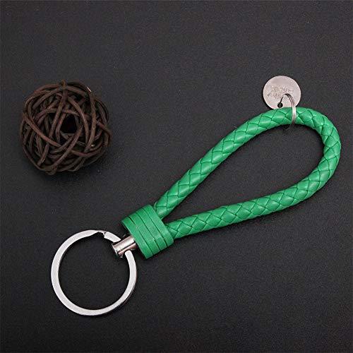ETbotu auto-accessoires, geschenken voor mannen, vrouwen - sleutelhanger lederen sleutelhanger Multi kleuren geweven sleutelhanger