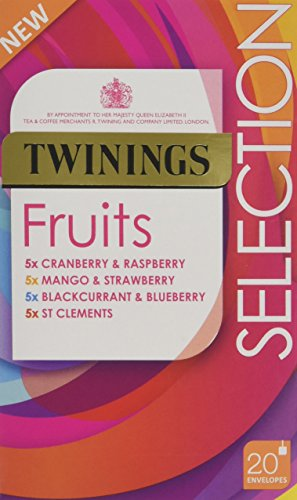 Twinings Fruit Selection, Mixed Set of 80 Tea Bags (Multipack of 4 x 20 Bags)