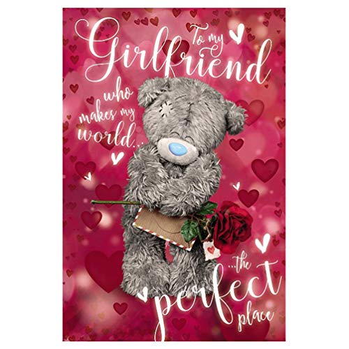 Me To You - to My Girlfriend - 3D Holographic Valentine's Card
