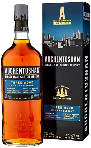 Auchentoshan Three Wood Single Malt Scotch Whisky, 70 cl