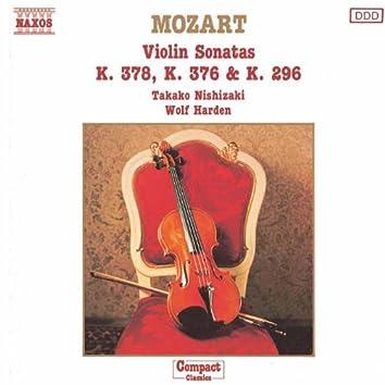 MOZART: Violin Sonatas,  K. 378, K. 376 and K. 296