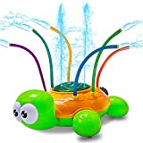 HomeMall Outdoor Water Spray Sprinkler Toy for Kids - Spinning Turtle Sprinkler Games for Kids, Backyard Splash Games Fun for Summer, Families Kids Pets Outdoor Activities Games Gifts