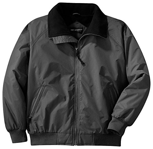Port Authority J754 Challenger Jacket - Steel Grey/True Black - Large