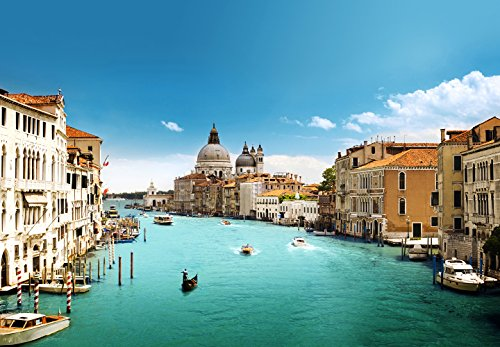 Ideal Decor 100 in. x 144 in. Grand Canal Venice Wall Mural