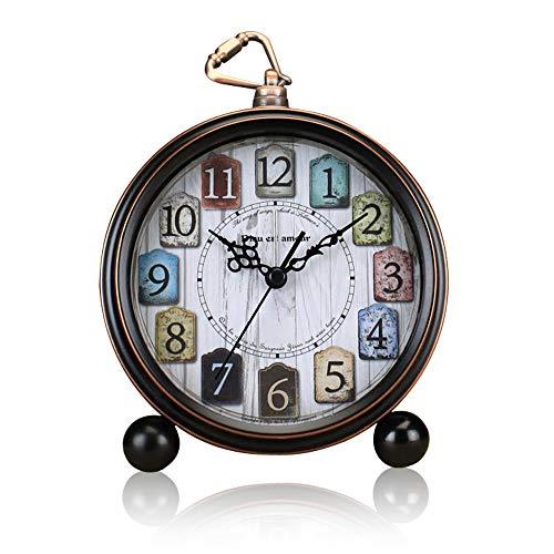 ALEENFOON Reloj despertador clásico retro de 5 pulgadas, si