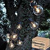 30M Lichterkette Außen, LED Lichterkette Glühbirnen Aussen G40 Beleuchtung 53er Warmweiß IP44 Wasserdicht Glühbirnen Girland Lichterkette für Garten Terrasse Hochzeit Party Weihnachten