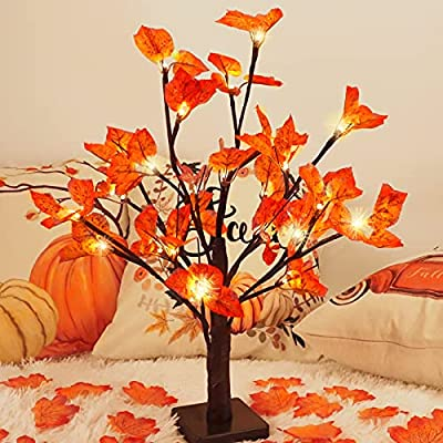Amazon Promo Code for Fall Lighted Maple Tree Light up Table Centerpiece 16092021065540