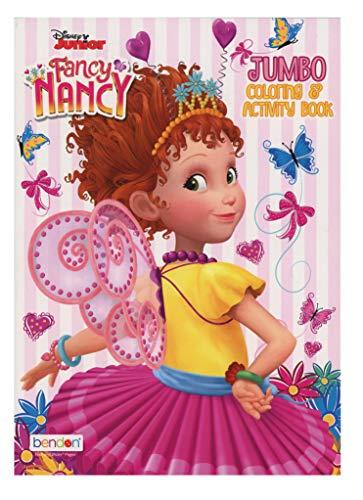 Disney Junior Fancy Nancy Jumbo Coloring & Activity Book 80 Pages 7.75x10.7 Inch