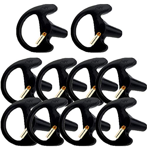 Replacement Earmold Earbud Right Ear for Two Way Radio Acoustic Coil Tube Earpiece - Silicone Walkie Talkie Earmould Ear Buds Black Medium, Soft Ear Piece, 10 Pairs, Lsgoodcare