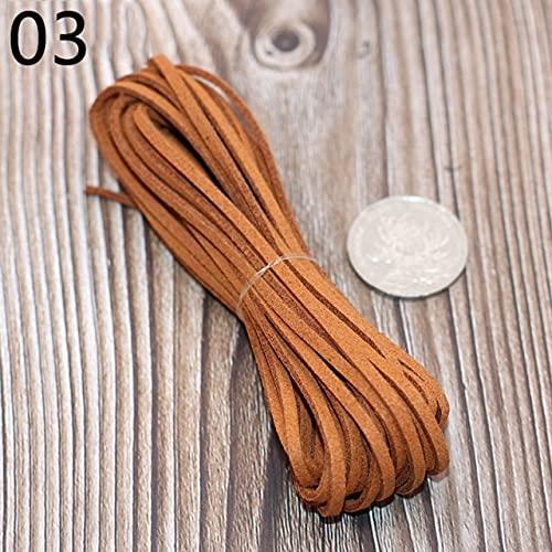 Cordón de Cuero de 5 M, cordón de joyería para Pulsera de Cuero, Hilo de Cuerda, Collar, fabricación de Joyas, Cadena de búsqueda