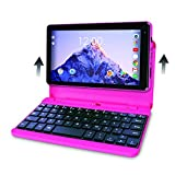 RCA Voyager Pro 7 inch Tablet (Touchscreen) with Keyboard Case - Android 6.0 (Marshmallow) -16 GB Storage Memory - PINK