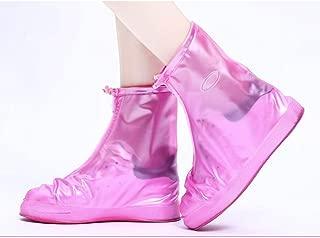 JWWOZ Silicone Rain Boots Waterproof Rainproof Rain Boots Slip Non-Slip Thick Wear-Resistant Rain Boots Cover (Color : Brown, Size : XXXL)