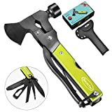 RoverTac Multitool Camping Tool Survival Gear Handy Gifts for Dad Men UPGRADED 14 in 1 Stainless Steel Multi tool with Hammer Axe Knife Plier Screwdrivers Saw Bottle Opener Durable Sheath