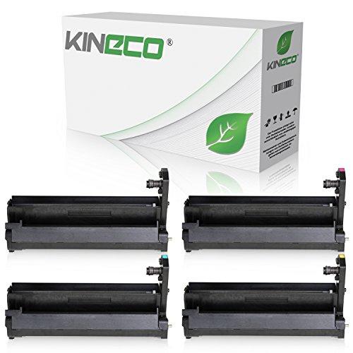 4 Trommeln kompatibel zu Oki C3100 C3200 N C5100 N C5150 N C5200 N C5200 NE C5250 DN C5250 N C5300 DN C3100 C3200 N C5100 N C5200 N C5250 C5300-42126644 - Schwarz und Color je 17.000 Seiten