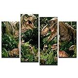 axqisqx Leinwanddrucke Abstrakte Malerei Jurassic Park