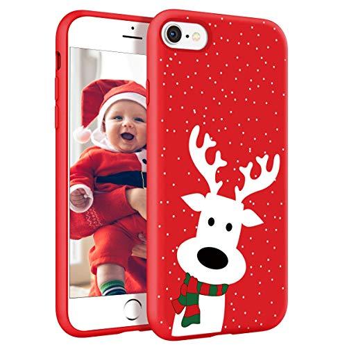 Yoedge Funda para Xiaomi Redmi Note 9 Pro, Cárcasa Silicona Rojo con un Suave Navidad Diseño de Dibujos Animados...