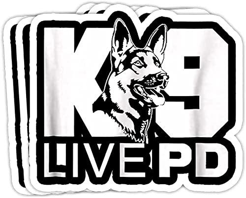 Police Dog - German Shepherd - Live PD - K9 Gift Decorations - Vinyl Stickers Laptop Decal Water Bottle Sticker Funny Sticker, Gift Sticker