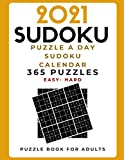 2021 Sudoku - Puzzle a Day Sudoku Calendar   365 Puzzles   Easy-Hard Puzzle Book for Adults: Sudoku Daily Calendar 2021/Brain Games - Best Gift idea for adults