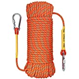 OXYVAN Rock Climbing Rope,32ft 49ft 65ft 98ft 164ft 10mm Static Rappelling Rope,Tree Climbing Gear Fire Escape Safety Rope