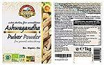Poudre d'Ashwagandha biologique – 1kg – pure et naturelle – crues #3