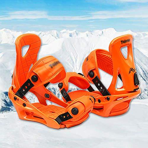 N  A Fijaciones de Snowboard Ajustables para Adultos, Hombres y Mujeres - Trinquetes mejorados, Equipo de Deportes de Invierno al Aire Libre