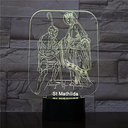 Biblia Santa Matilda 3D 16 Colores Luce Notturna A Led In Acrilico Lampada Da Scrivania Per Bambini Camera Da Letto Decorativa Luce Notturna Regalo