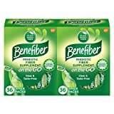 Benefiber Daily Fiber Supplement, On The Go, Powder Stick Packs for Digestive Health, 72 Count