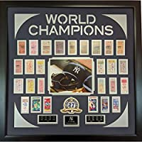 Framed New York Yankees 27x World Series Champion Replica Ticket 34x34 Collage Photo Professionally Matted