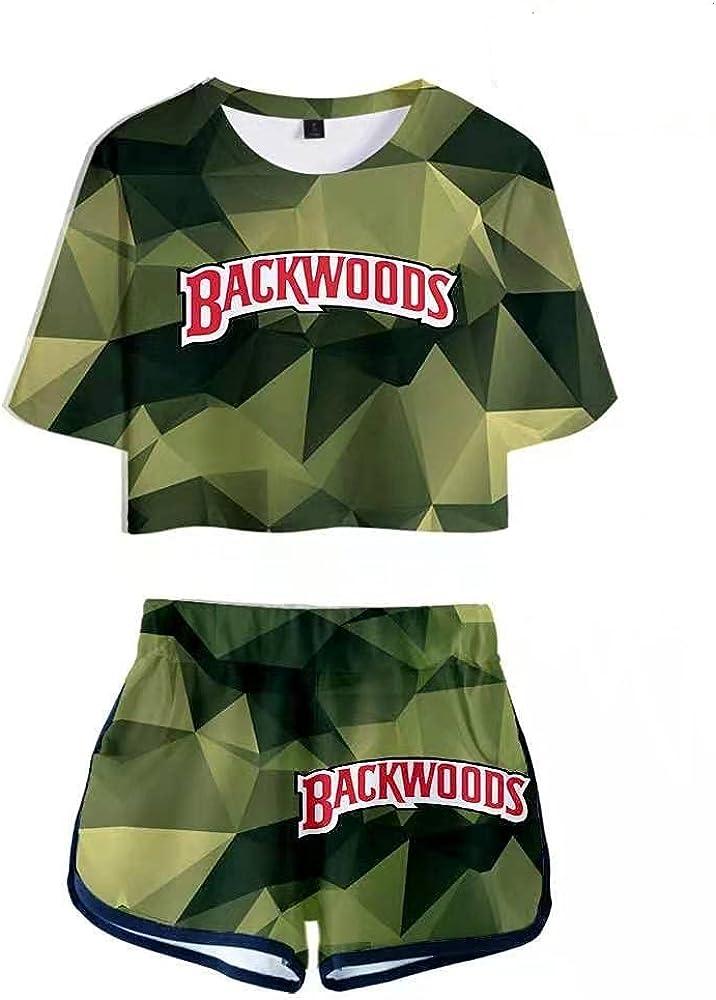 Backwoods Crop Top Shirt and Shorts Set Backwoods 3D Print Novelty suits Backwoods Sweatsuits for girls women