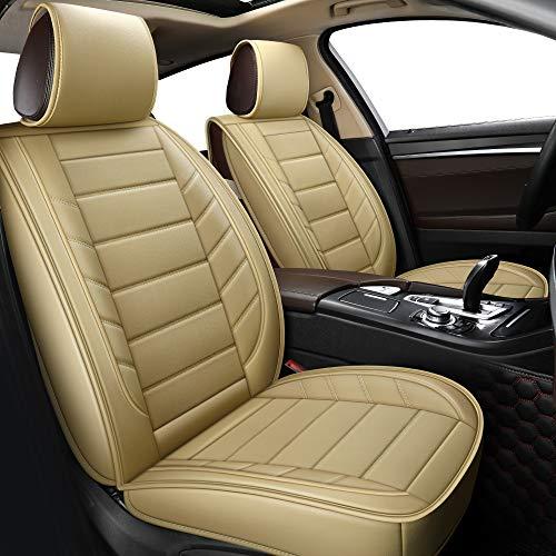 LUCKYMAN CLUB Car Seat Covers fit Sedan SUV fit for Vw Jetta Passat GTI Tiguan Kia Sportage Soul Optima Forte Sorento Honda Accord Civic CRV Cr-v Ridgeline (Full Set, Beige)