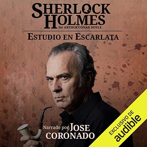 Diseño de la portada del título Sherlock Holmes - Estudio en escarlata