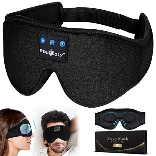 3D Schlafmaske Bluetooth, 2020 Neues Upgrade Schlafkopfhörer Bluetooth Augenmaske Schlafbrille Perfekte Geschenke für Frauen Herren,Weichem Atmungsaktivem,Sleeping Mask mit Verstellbarem Riemen