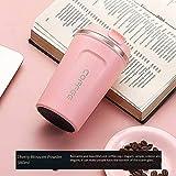Junfeng Taza de café de 510 ml, de acero inoxidable, con aislamiento, portátil, de negocios, para el agua caliente y frío
