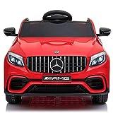 BC BABY COCHES Mercedes GLC 63S - Coche eléctrico para niños con BATERÍA 12v con Ruedas Caucho y Asiento Polipiel, Mando a Distancia (Rojo)