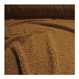 Stoff am Stück Stoff Polyester Teddyfell erdnuß schmal